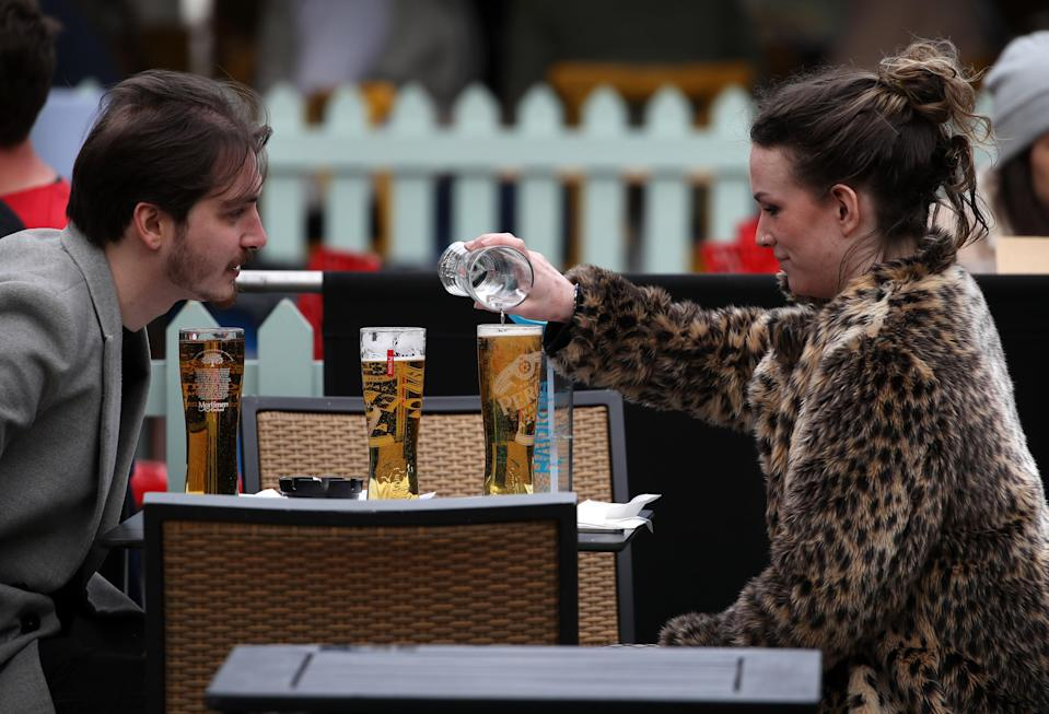 <p>London's restaurants, bars and pubs will be able to let customers indoors for the first time since the capital was put under Tier 3 restrictions in mid-December</p> (PA)