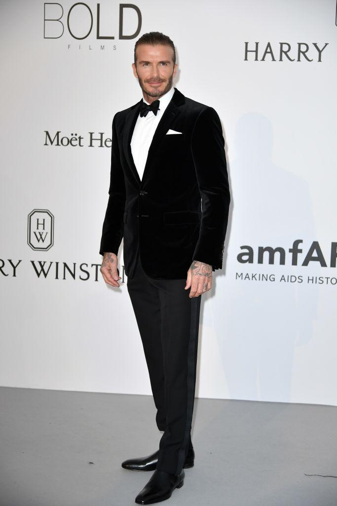 David Beckham attending the amfAR Gala Cannes 2017. (Getty Images)