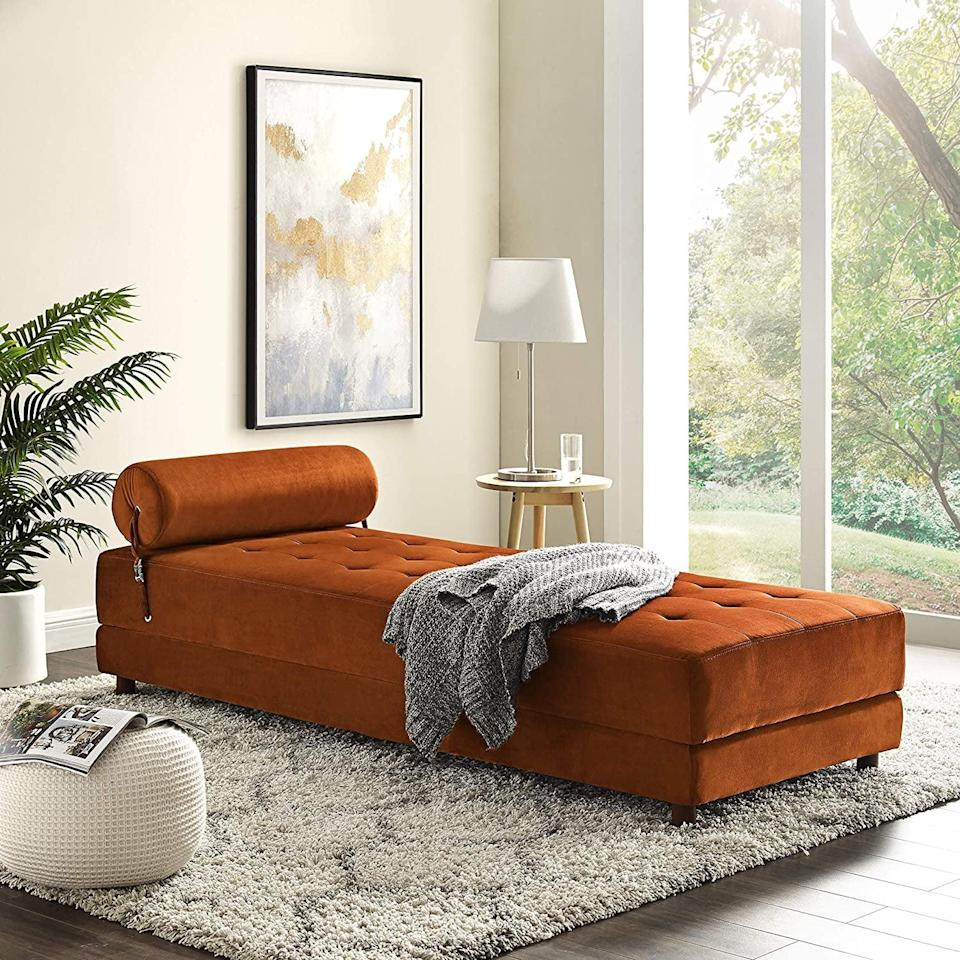 <p>Give your living room a whole new look with this gorgeous <span>Art Leon Chaise</span> ($650), which you'll love lounging in.</p>