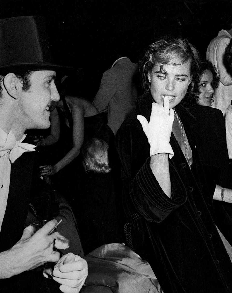 <p>Actress Margaux Hemingway and actor Paul Bakers attend the Coty Awards in New York City in 1978.</p>