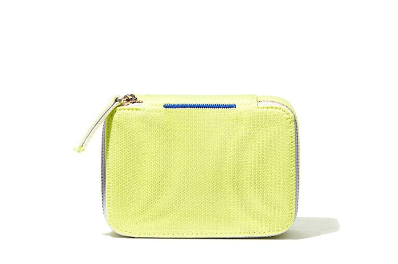 The Mini Catchall in neon lime.