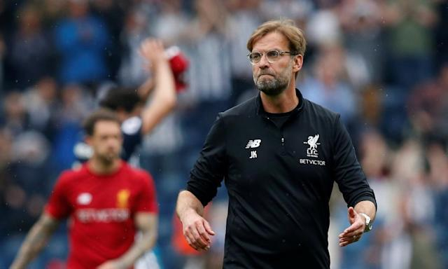 Jürgen Klopp bemoans 'dangerous' pitch after West Brom stun Liverpool