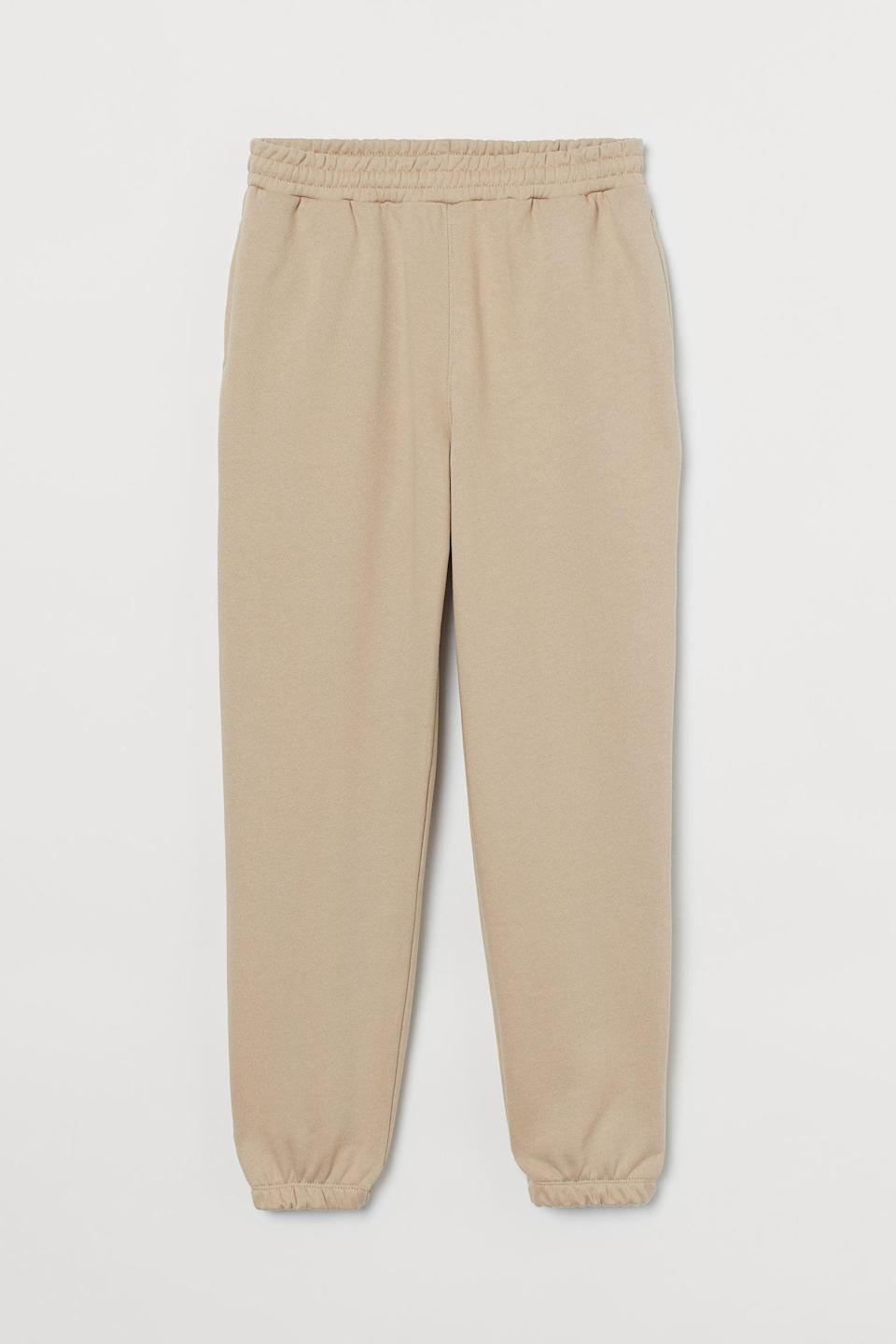 <p>Style your easy tee with these <span>Cotton Sweatpants</span> ($25).</p>