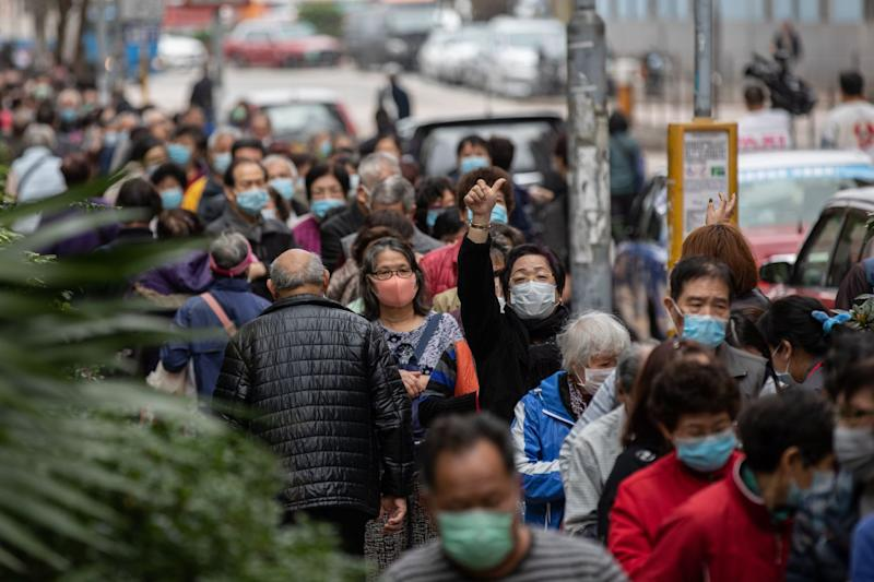 Mask giveaway in Hong Kong amid coronavirus outbreak in January