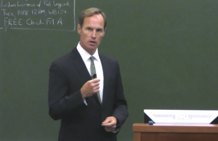 Jim Donovan lectures to UVA law students in 2013.