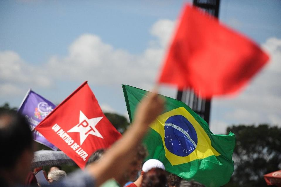 Suspended leftist Brazilian president Dilma Rousseff's allies in the Workers' Party point out that many of the lawmakers accusing her are implicated in corruption cases arguably far more serious than accounting tricks (AFP Photo/Andressa Anholete)