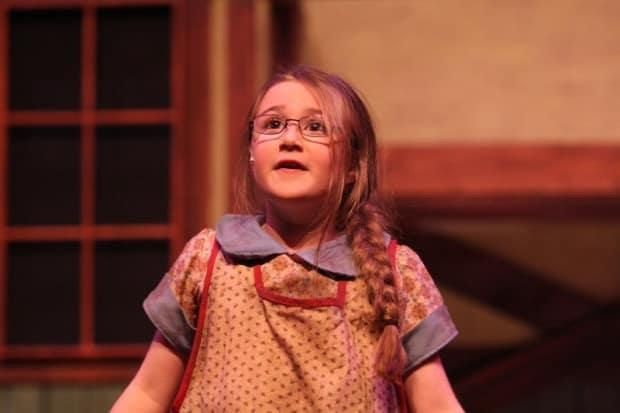 Charlotte Harriman at age six, as Molly in the Saint John Theatre Company production of Annie.  (Brian Goodwin photo - image credit)