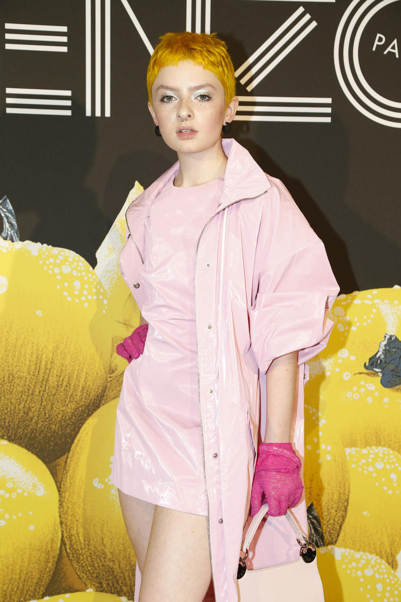 aca4bf21 Lachlan Watson Talks Height Discrimination at the Kenzo Show