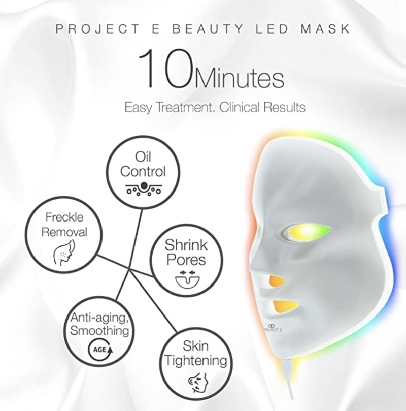 Beauty LED Face Mask Light Therapy. PHOTO: Amazon
