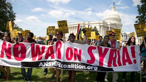 AP united states syria protest jt 130907 16x9 608 Kerry on Syria: Not the Time to Be Silent Spectators to Slaughter