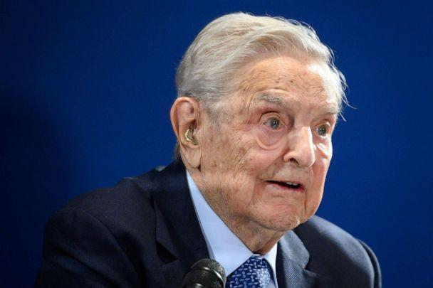 PHOTO: U.S. investor and philanthropist George Soros delivers a speech on the sidelines of the World Economic Forum annual meeting, on Jan. 23, 2020 in Davos, Switzerland. (Fabrice Coffrini/AFP via Getty Images, FILE)