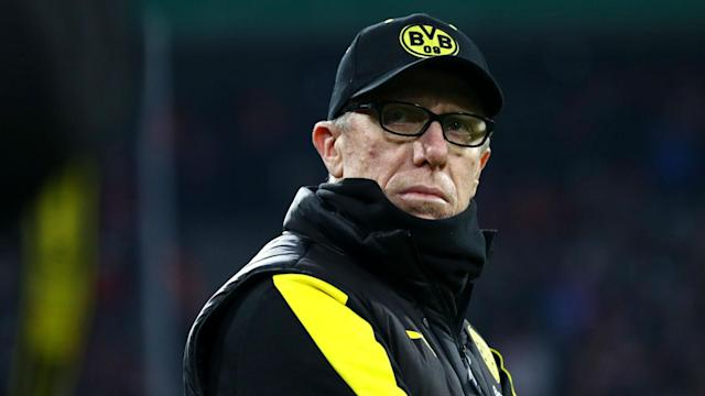 Borussia Dortmund were eliminated from the DFB-Pokal by Bayern Munich and the coach rued a poor first-half showing.