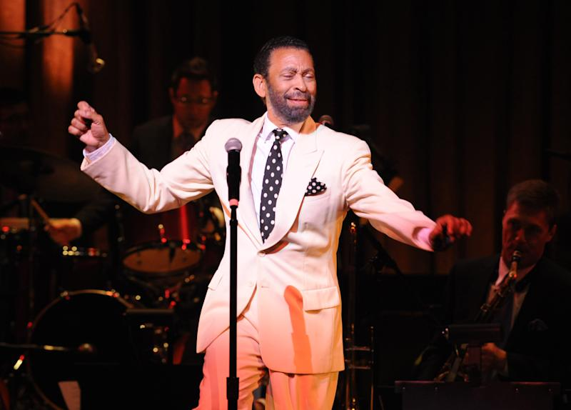 """In this May 2011 photo provided by the Apollo Theater, director/choreographer Maurice Hines is seen on stage that the Apollo Theater in New York. Hines will host three performances of """"Apollo Club Harlem,"""" in February 2013. Hines directed and choreographed the production. (AP Photo/The Apollo Theater, Shahar Azran)"""