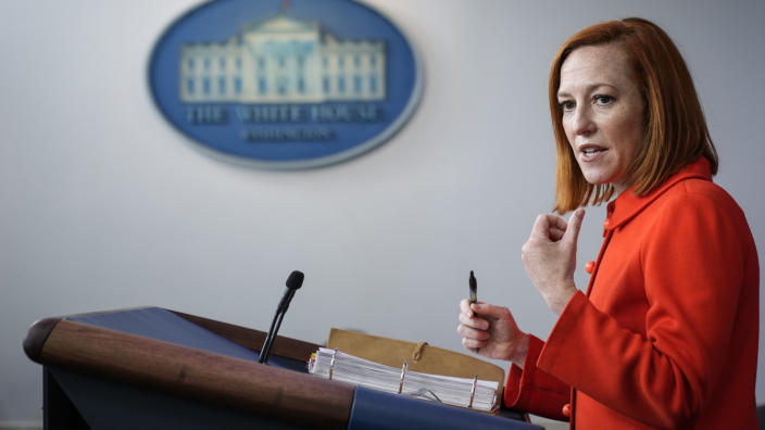 White House Press Secretary Jen Psaki speaks during the daily press briefing at the White House on May 12, 2021 in Washington, DC. (Drew Angerer/Getty Images)