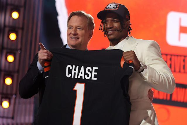 All the Best Photos from the First Round of the 2021 NFL Draft in Cleveland