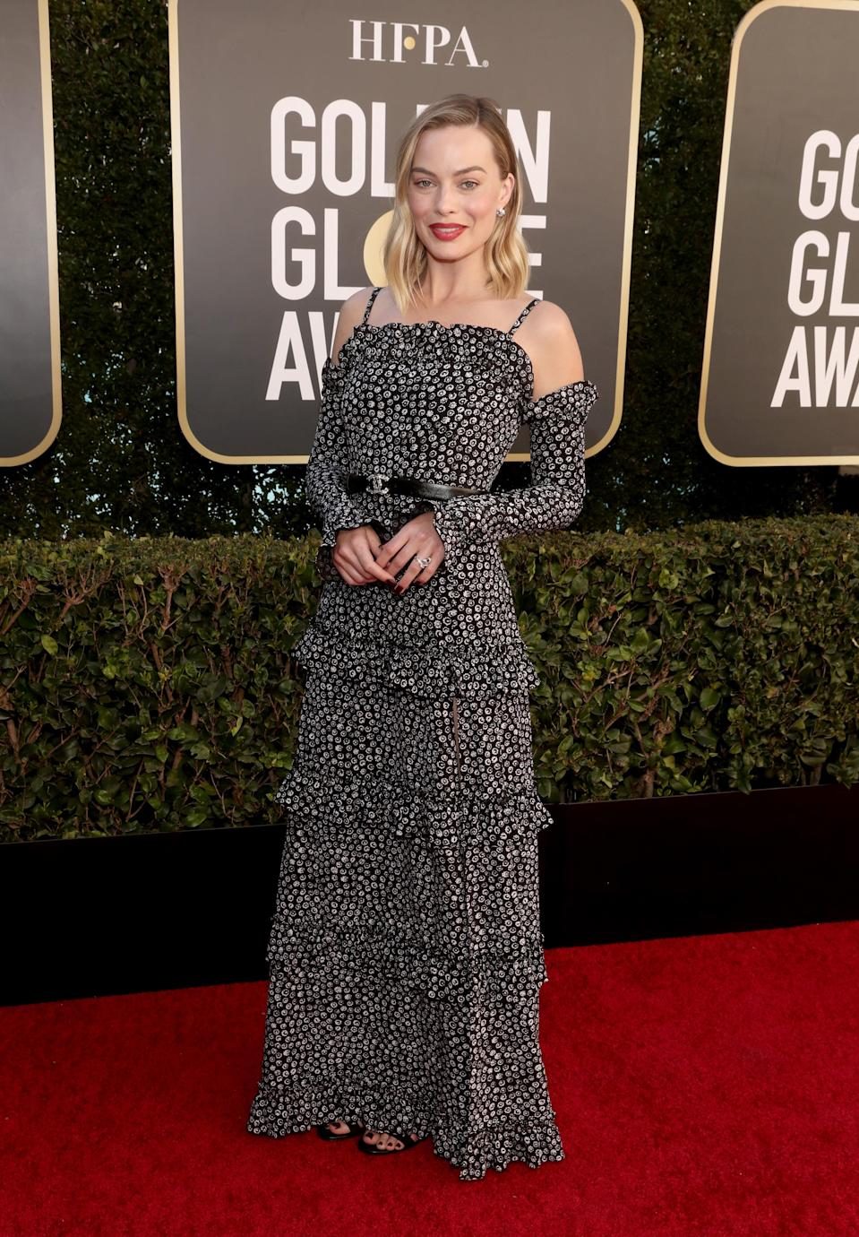 """<h2>Margot Robbie in Chanel</h2><br><br>Margot Robbie looks effortless in head-to-toe Chanel, including a leather belt that we're predicting will be everywhere come spring.<span class=""""copyright"""">Photo: Todd Williamson/NBC/NBCU Photo Bank via Getty Images.</span>"""