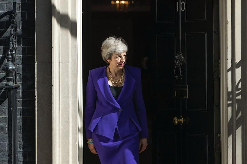 Mrs May is under pressure to set out her departure date (Getty)