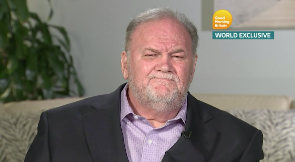 Meghan Markle's father, Thomas Markle Snr, during his interview with Good Morning Britain on 18 June inn which he apologised for fake paparazzi shots. [Photo: Good Morning Britain]