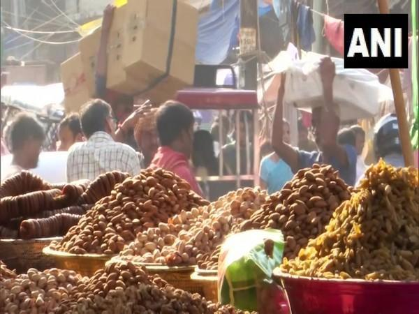 Visual from a surge in dry fruit price in Delhi. (Photo/ANI)