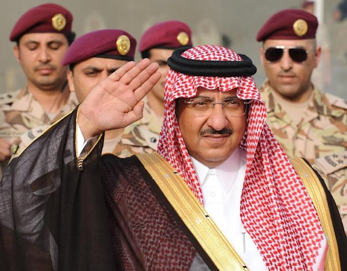 Saudi Crown Prince and Interior Minister Prince Mohammed bin Nayef bin Abdulaziz attends a graduation ceremony of members of Saudi Special Forces in the capital Riyadh on May 19, 2015 (AFP Photo/Fayez Nureldine)