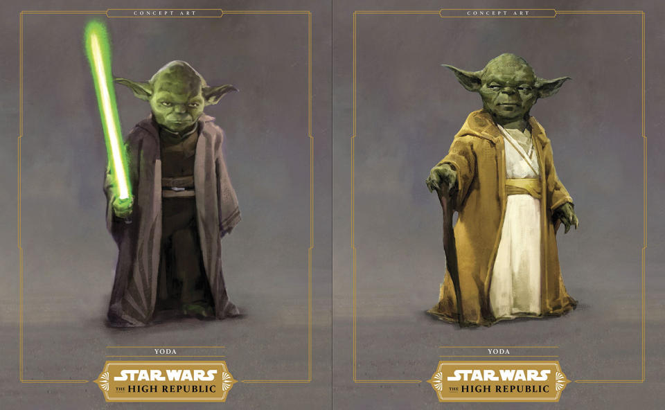 Concept art for Yoda in 'Star Wars: The High Republic Adventures'. (Credit: IDW Publishing/Lucasfilm)