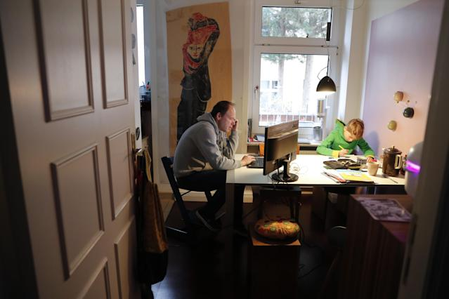 Work from home is the new norm as coronavirus pandemic sweeps the world. (Fabrizio Bensch/Reuters)