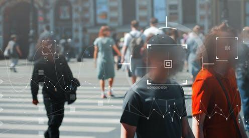 """<span class=""""caption"""">Does technology more about us than we know about ourselves?</span> <span class=""""attribution""""><a class=""""link rapid-noclick-resp"""" href=""""https://www.shutterstock.com/image-photo/face-recognition-personal-identification-technologies-street-1783490738"""" rel=""""nofollow noopener"""" target=""""_blank"""" data-ylk=""""slk:Trismegist san/Shutterstock"""">Trismegist san/Shutterstock</a></span>"""