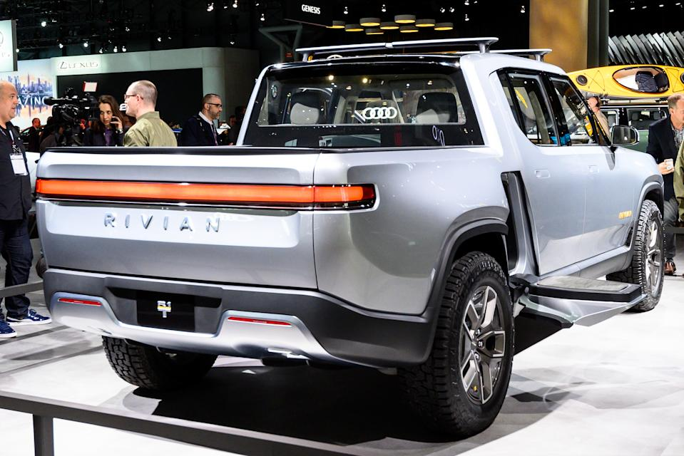 NEW YORK, NY, UNITED STATES - 2019/04/17: Rivian R1T seen at the New York International Auto Show at the Jacob K. Javits Convention Center in New York. (Photo by Michael Brochstein/SOPA Images/LightRocket via Getty Images)