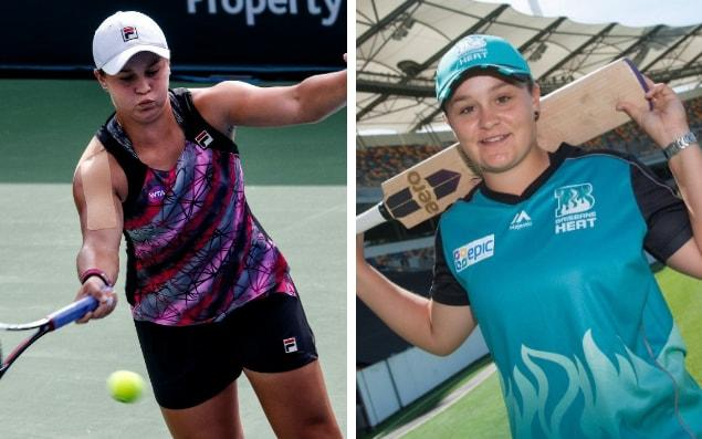 Ashleigh Barty is back playing tennis after time out spent playing cricket - epa