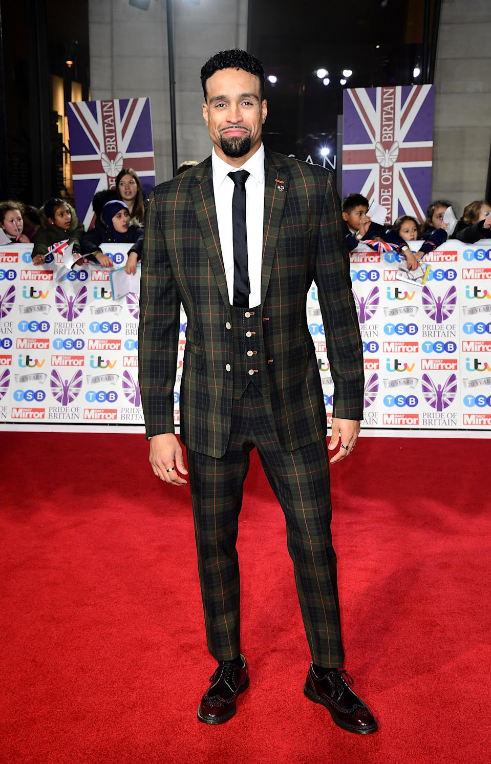 Ashley Banjo arriving for the Pride of Britain Awards held at the The Grosvenor House Hotel, London. (Photo by Ian West/PA Images via Getty Images)