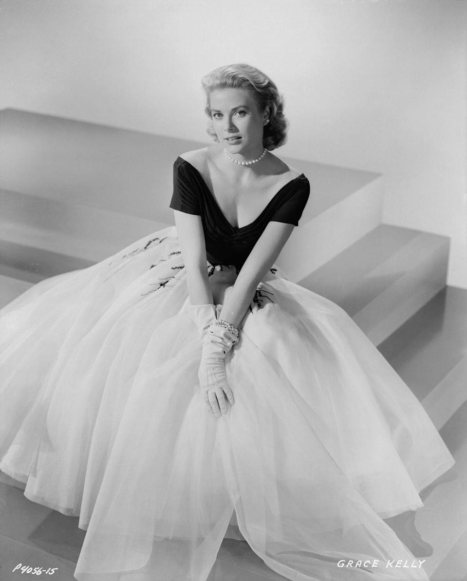 <p>Grace Kelly's perfectly poised character in Alfred Hitchcock's <em>Rear Window</em><em>,</em> socialite Lisa Carol Fremont, paraded through the film in a string of coiffed outfits. The showstopper was the evening gown designed by Edith Head. Black and white with a V-neck and capped sleeves, it cinched at the waist and gave way to a full tulle skirt. </p>