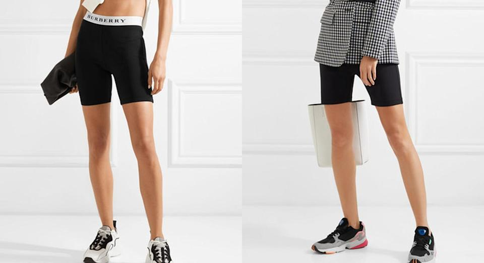 Burberry's £230 cycling shorts are a hit with the style set [Photos: Burberry/Net-a-porter]