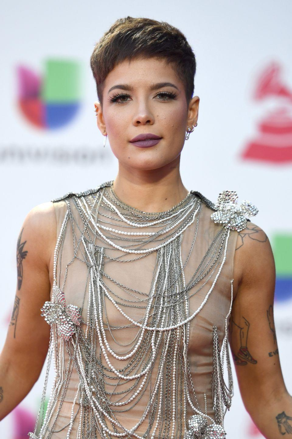 <p>Halsey changes her hair more often than some of us change our lipstick—but more often than not, she returns to a strong, short crop.</p>
