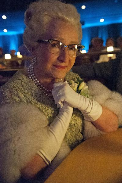 "This publicity photo released by HBO shows Debbie Reynolds in a scene from the film, ""Behind the Candelabra."" (AP Photo/HBO, Claudette Barius)"