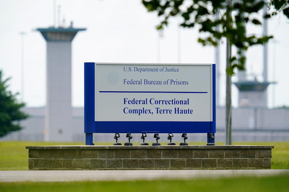 This Aug. 28, 2020, file photo shows the federal prison complex in Terre Haute, Ind. A wave of federal executions by the Trump administration after a 17-year hiatus are set to resume.