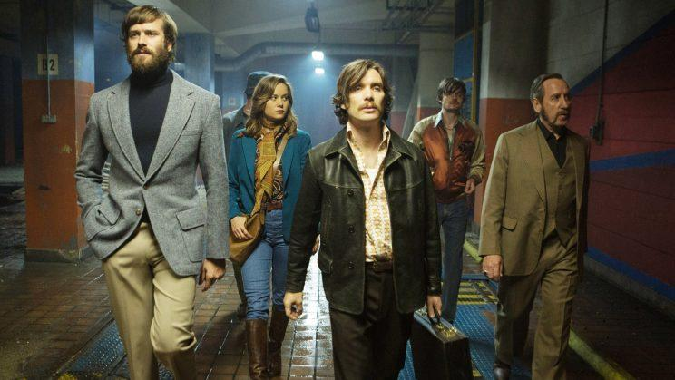 The 'Free Fire' cast (Armie Hammer, Brie Larson, Cillian Murphy, Sam Riley, Michael Smiley) [Photo: A24/Everett Collection]