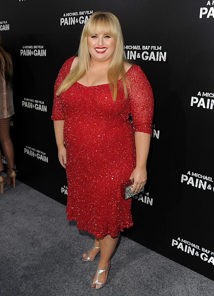"Rebel Wilson arrives at the premiere of Paramount Pictures'""Pain & Gain"" at TCL Chinese Theatre on April 22, 2013 in Hollywood, California.  (Photo by Kevin Winter/Getty Images for Paramount Pictures)"