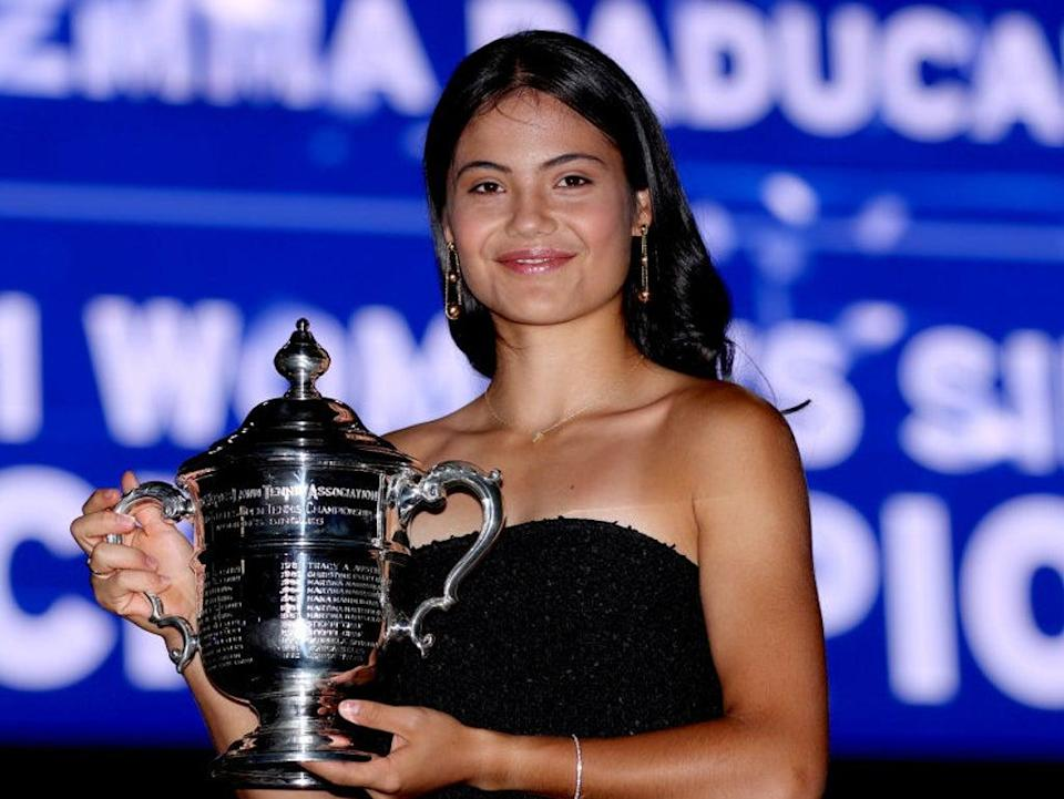 Emma Raducanu, 18, stormed to the US Open title this month  (Getty Images)
