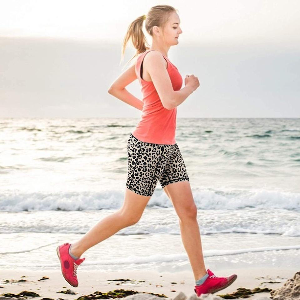 """Designed with a high waist, these shorts won't fall down during workouts. Plus, they'll make the perfect underlayer to defeat thigh-chafing when you're out and about in a springtime dress.<br /><br /><strong>Promising review:</strong>""""I ordered these to wear during at-home workouts instead of wearing my capri ones and under my shorts for walks because I hate my thighs rubbing together. I think I am going to get them in white to wear under my summer dresses. I love the way the waist is made and how soft the material is."""" —<a href=""""https://www.amazon.com/gp/customer-reviews/RGKTTGYDXSI3E?&linkCode=ll2&tag=huffpost-bfsyndication-20&linkId=7ad291fc5bba42ec3404678564da91ff&language=en_US&ref_=as_li_ss_tl"""" target=""""_blank"""" rel=""""nofollow noopener noreferrer"""" data-skimlinks-tracking=""""5925990"""" data-vars-affiliate=""""Amazon"""" data-vars-href=""""https://www.amazon.com/gp/customer-reviews/RGKTTGYDXSI3E?tag=bfjasminsandal-20&ascsubtag=5925990%2C10%2C36%2Cmobile_web%2C0%2C0%2C16632414"""" data-vars-keywords=""""cleaning,fast fashion"""" data-vars-link-id=""""16632414"""" data-vars-price="""""""" data-vars-product-id=""""21082596"""" data-vars-product-img="""""""" data-vars-product-title="""""""" data-vars-retailers=""""Amazon"""">Kimberley McLeod</a><br /><br /><strong><a href=""""https://www.amazon.com/Promover-Pockets-See-Through-Workout-Running/dp/B08868BXMN?&linkCode=ll1&tag=huffpost-bfsyndication-20&linkId=c9bda55c221e0112f155fc67ef83a346&language=en_US&ref_=as_li_ss_tl"""" target=""""_blank"""" rel=""""noopener noreferrer"""">Get it from Amazon for$11.99+(available in sizes XXS–XXL and 35 colors).</a></strong>"""