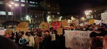 Protest against Poland's Constitutional Tribunal ruling on abortion, in Glasgow