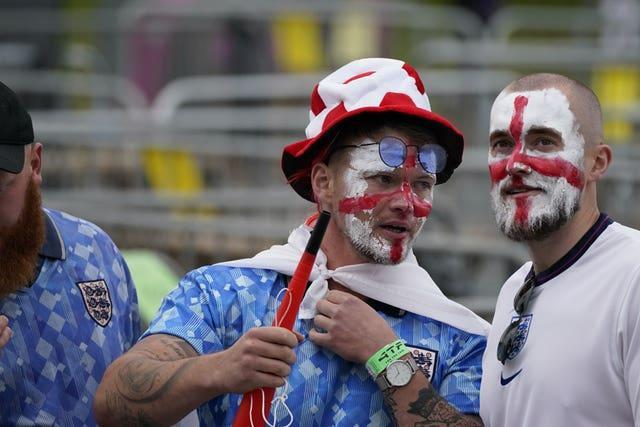 Fans arrive at Wembley for the big match