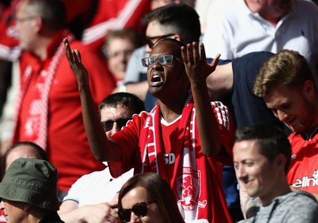 A Middlesbrough fan is rightly annoyed by his team's display