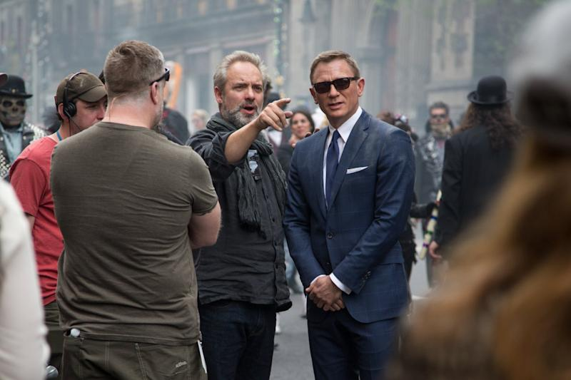 Mendes and Daniel Craig (Credit: Sony)