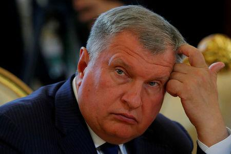 FILE PHOTO: Rosneft CEO Sechin attends the talks of Russian President Putin with South Korean President Moon in Moscow