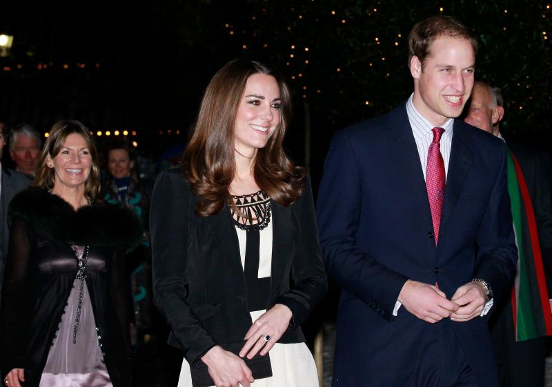 Prince William and his fiancée Kate Middleton arrive at The Thursford Collection in Norfolk, England on Dec. 18, 2010.