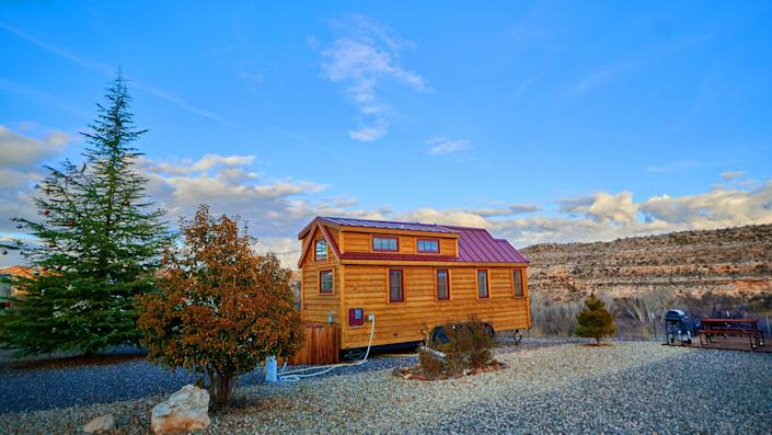 Verde Valley RV & Camping Resort's tiny house village is located just outside of Sedona, Arizona.
