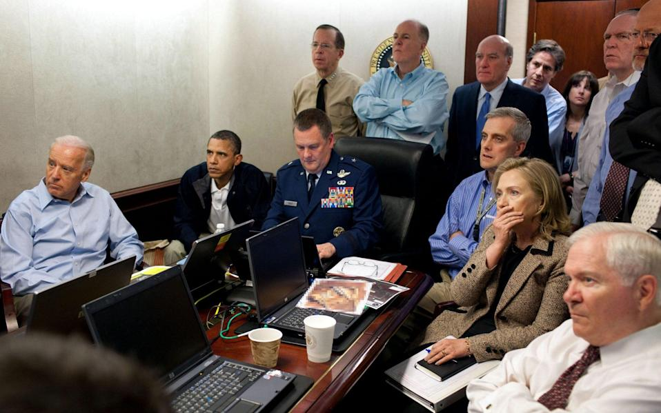 The White House war room May 2, 2011