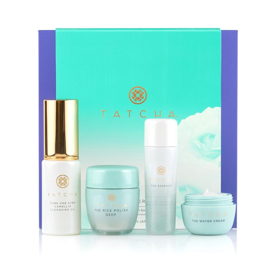 "Ideal for your royals-obsessed friend (or anyone who wants <a href=""https://www.glamour.com/story/tatcha-the-dewy-skin-cream-review?mbid=synd_yahoo_rss"">dewy dumpling skin</a>), this starter set from <a href=""https://www.glamour.com/story/tatcha-sale-skin-care?mbid=synd_yahoo_rss"">Meghan Markle's go-to skin care brand</a> is a great way to dip your toes in the world of J-beauty. Tatcha is all about maintaining a pure complexion by melting away makeup, polishing dead skin off the surface, and nourishing with luxurious lightweight creams. $59, Tatcha The Starter Ritual Set. <a href=""https://www.tatcha.com/product/GREEN-STARTER-RITUAL.html"">Get it now!</a>"