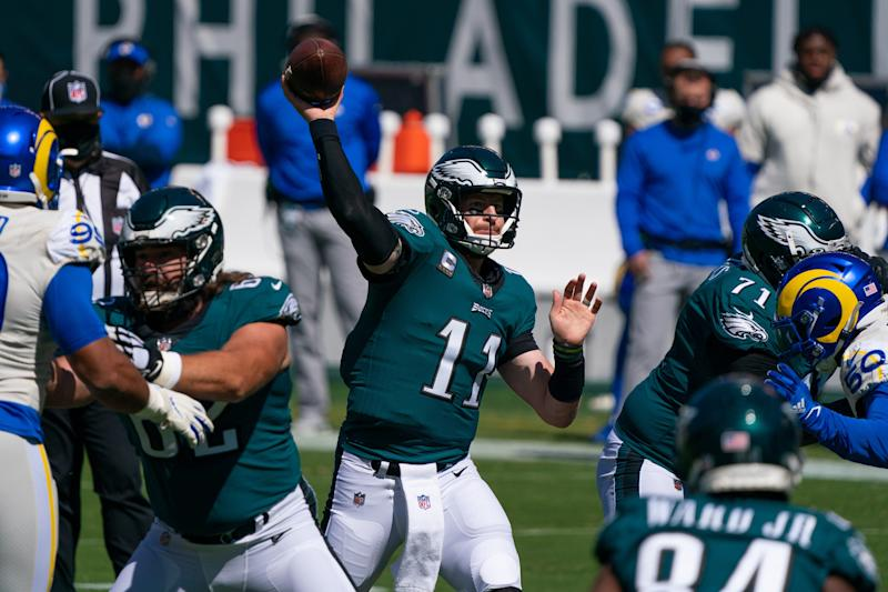 Carson Wentz is sure the Eagles will 'be OK' despite 0-2 start after loss to the Rams