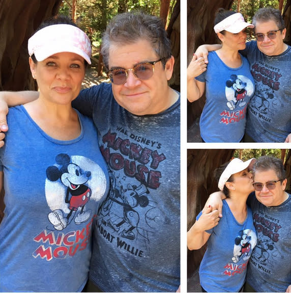 "<p>Just a few weeks before <a href=""https://www.yahoo.com/celebrity/patton-oswalt-meredith-salenger-engaged-160315148.html"" data-ylk=""slk:getting engaged;outcm:mb_qualified_link;_E:mb_qualified_link"" class=""link rapid-noclick-resp newsroom-embed-article"">getting engaged</a>, Oswalt and Salenger sported <a href=""https://www.instagram.com/p/BVfKd8ADxvd/?taken-by=meredithsalenger"" rel=""nofollow noopener"" target=""_blank"" data-ylk=""slk:matching Mickey T-shirts"" class=""link rapid-noclick-resp"">matching Mickey T-shirts</a> at Disneyland. They must have decided to seal the deal after a romantic ride on the Tea Cups… (Photo: Meredith Salenger via Instagram) </p>"
